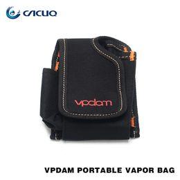 Wholesale Case Cigarette Kit - Original Vpdam E cigarette Portable Vapor Pocket E Cig Case Double Deck Vapor Bag Box Vape Mod Carrying Case For Alien kit SMOK Eleaf Bag