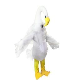 Canada Swan mascotte costume EMS livraison gratuite, de haute qualité fête de carnaval Fantaisie en peluche belle marche cygne mascotte taille adulte. Offre