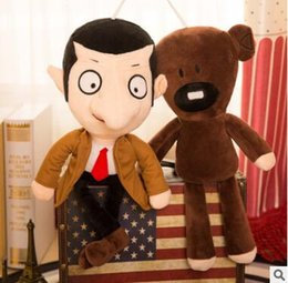Wholesale Doll Beans - Mr Bean and Teddy Bear Plush Toys Soft Dolls Stuffed Animals Toys for Kids Poo Devil Children Xmas Gifts Kids Stuffed Toys