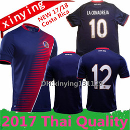 Wholesale Jersey Tops Free Shipping - top thai 2017 Gold Cup special Costa Rica Soccer Jerseys 17 18 COSTA RICA K.WASTON football shirt 10 pieces free shipping dhl