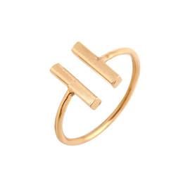 Wholesale Double Finger Adjustable Rings - Min 1pc 2016 New Fashion Simple Double Bar Shape Ring Bar Rings Simple Adjustable Bar Shape Finger Ring for Women JZ115