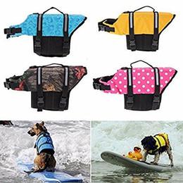 Wholesale Life Sized Dogs - Dog Life Jacket 11 color XS-2XL Size Breathable Pet Dog Puppy Swimwear Safety Clothing Adjustable Boating Life Vest