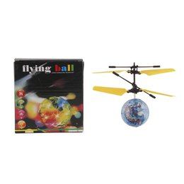 Wholesale Lighted Helicopters - Chamsgend RC Toy EpochAir RC Flying Ball RC Drone Helicopter Ball Built-in Disco Music With Shinning LED Lighting for Kids