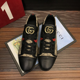 Wholesale Wedding Dressing Men - Top High Quality trainer Shoes original Style Men Casual Shoes Lace-Up luxury trainers Shoes Breathable Comfortable Rubber Sole 8079240