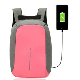 Wholesale Lady Girl Bags - Women 15 Inch Laptop Backpack USB Charging Anti- theft Travel Backpacks For Fashion Girls Female Ladies Waterproof Bags