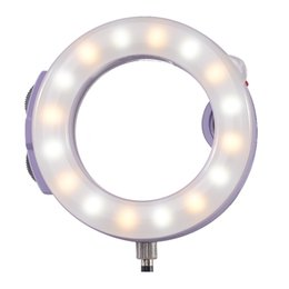 Wholesale-Meike -H16 Selfie LED Ring light for 3.5mm earphone jack Mobile Phone multi-color USB Charge work with phone lens от