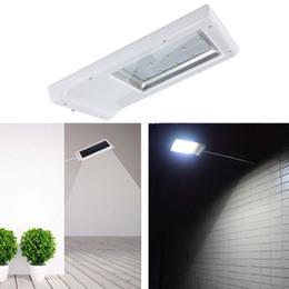 Wholesale Sconce Chrome - 15 LED 2835 SMD Solar Sensor Wall Street Light Waterproof Outdoor Garden Lamp Lighting Lantern Sconce