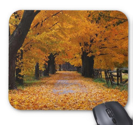 Wholesale Mat Walk - Rectangular non-slip natural rubber mouse mat walking down autumn's memory lane computer accessories office supplies mouse pad