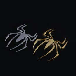 Wholesale Spider Decal Motorcycle - Motorcycle 3D Spider Automobile Decals Car-styling Chrome Gold Album Decorative Stickers Child DIY Toy Skateboard Decal Sticker