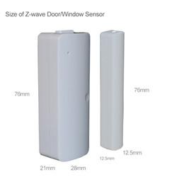 2019 sensor de alambre de alarma de puerta Al por mayor-Wired Door / Window Sensor 300 mm, z-wave Wire Alargar aleatoriamente interruptor magnético Home Alarm System sensor de alambre de alarma de puerta baratos