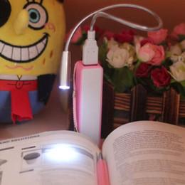 computador luz noturna Desconto Venda por atacado - Periféricos de computador USB LED Gooseneck pequeno candeeiro de mesa do teclado do portátil Luz de iluminação dobrável Mini Night Reading Light