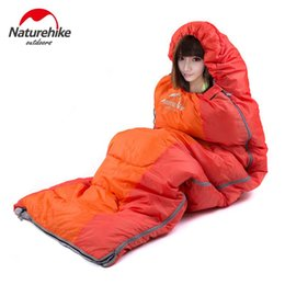 Wholesale Ultralight Bag - Wholesale- Naturehike Ultralight sleeping bag Adult Outdoor camping Envelope sleeping bag Cotton hiking tourist camping equipment