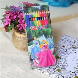 Wholesale Wood Drawing Book - 12pcs set wooden colored pencils for coloring books secret garden Crayon Painting Pen Drawing Pencil Painting Supplies 12 colors in stock