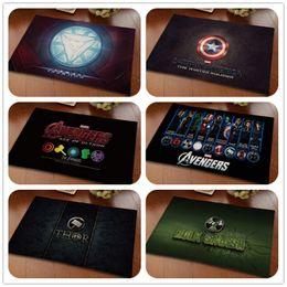60x40cm / 80x50cm Avengers tapis tapis Hulk / fer homme / hor / capitaine Un tapis tapis de sol en velours paillasson chambre baie vitrée tapis cadeaux ? partir de fabricateur