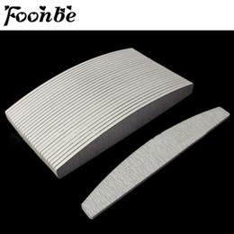 Wholesale Grey Nail Files - Wholesale- 50Pcs lot Grey ACR Nail File Buffer 100 180 Nail Art Sanding Buffer Files For Salon Manicure UV Gel Tips Pedicure Tool