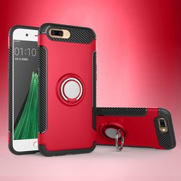 Wholesale Oppo Cell - Dual Layer with Iron Sheet Perfectly use with Magnetic car holder Mobile Phone Accessories Cell Phone Case for OPPO R11 R11+