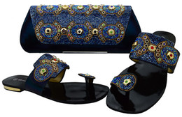 Wholesale Exotic Shoe - Hot summer comfortable exotic african sandals set with wonderful handbag for party or daliy BCH-37