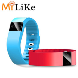 Wholesale Oled Display Bracelet - MiLike TW64 Smart Fitness Bracelet OLED Display Flex Smart Watch Sleep Tracking Passometer Pulsometer Smart Wristband band for IOS Android