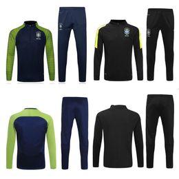 Wholesale Brazil Soccer - thai quality 2016 2017 brazil Soccer training suit 16 17 D.COSTA DAVID LUIZ T.SILVA OSCAR NEYMAR JR soccer jerseys tracksuit shirts