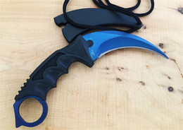 Wholesale Tops Knives Oem - Top quality! New ICE-TEK claw karambit claw Fixed balde knife OEM DART 440C Blade 60HRC Tactical knife camping knife Free shipping