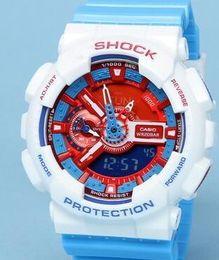Wholesale Led Pointer Watch Mens - Popular Mens Summer G Sports GA110 Watches LED Waterproof Climbing Digital S Shock Men 100 Watch All Pointer Work Original Box #58