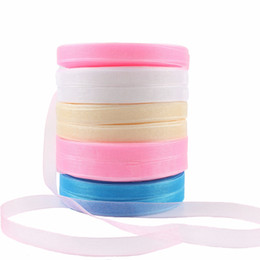 Wholesale Craft Wedding Decorations - Wholesale- Lincaier 10mm 50 yards Organza Ribbons Wedding Decoration Gift Wrapping DIY Craft Bows Favor Birthday Party Event Supplies