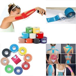Wholesale Elastic Rolls - Wholesale- Hot Sale NEW 1 Roll Kinesiology Muscle Tape Sports Athletic Elastic Physio Therapeutic 5cmX5m Convenient Sports Safety