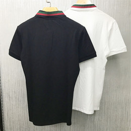 Wholesale Men Designer Tee Shirts - Fashion T-shirt Famous Designer Spring Summer Color Sleeves embroidery Tees Casual Tops