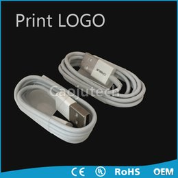 Wholesale Ip Retail - 3FT Genuine looks Micro data charging USB cable for IP 5  6   7 with retail box free shipping DHL print Logo