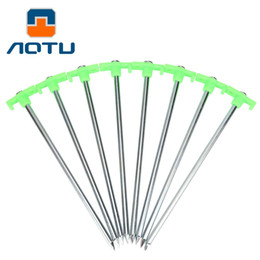 Wholesale Two Person Canvas Tent - AOTU 6pcs Luminous Glow Tent Pegs Camping Hiking Fishing Luminous Tent Nail Stakes Tent Peg Accessory 121
