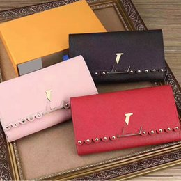 Wholesale Interiors Designs - High Quality 20CM Wallets Gifts For Women Fashional Designed Lampskin Genuine Leather Hasp Wallets