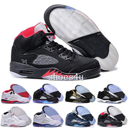 Wholesale Pro Star Sports - New 2017 Cheap Air Retro 5 V man basketball shoes pro stars hornets oreo black grape 2011 release sport sneaker hot online sale