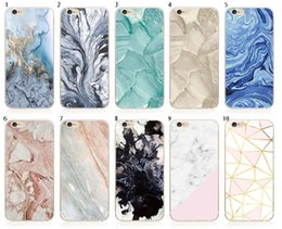 Wholesale Iphone Cases Stones - Relief Marble Case Cellphone Shell Back Cover Marble Stone Pattern Image Painted For iPhone 8 7 6s 6 Plus