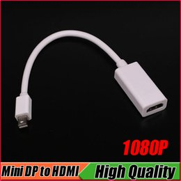 Wholesale Bnc Adapter Cable - 1080P MDP Mini DisplayPort To HDMI Adapter Display Port Mini DP Male To HDMI Female Adapter Cable For Mac Macbook Pro Air PowerBOOK