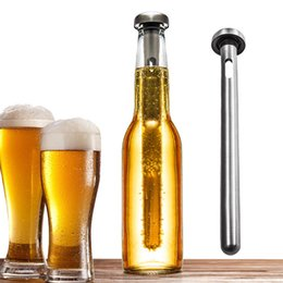 Wholesale Black Steel Rod - 2017 Stainless Steel Wine Liquor Chiller Cooling Ice Stick Rod In-Bottle Pourer Beer Chiller Stick Chill Alcohol Ice Drinks Wine Cold