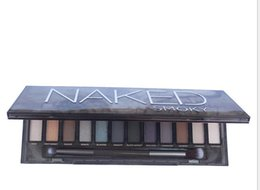 Wholesale Eye Palette Naked - Shipping in 24 hours!! NAKED Skok Eye Shadow New Arrive High Quality HOT Sale Makeup NUDE Smoky Palette 12 Color Eyeshadow Palette kylie