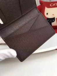 Wholesale Pocket Organiser - Brand New Quality Pocket Organiser damier graphite mens Real leather wallets card holder designer Ebene Canvas purse id wallet bifold