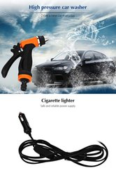 Wholesale 12v High Pressure Washer - Wholesale- 12V Car Washing Machine Vehicle-mounted Self-priming Wash High Pressure Cleaning Pump Water Gun Household Cleaning Car Washer