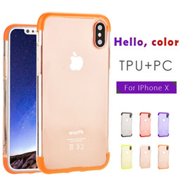 Wholesale Tpu Hard Case For Blackberry - Ultra Thin Full Protection 3 in 1 Case Hard TPU+PC Cell Phone Case for iPhone X 8G 7plus 6splus note 8 Phone Case