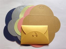 Wholesale Pocket Invitation Envelopes - Wholesale- 50pcs Free shipping special cardboard envelope card pockets handmade DIY gift invitation card bag small box folded size 105*72mm