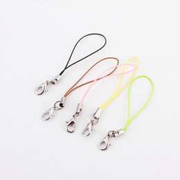 Wholesale Wholesale Mobile Electronics - 2017 Fahion DIY accessories Jewelry pendant rope mobile phone chains keyring Lanyard decoration sling with locks lobster clasp rope
