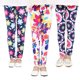 Wholesale Flower Legs - 2017 Spring Baby Kids leggings Hot Children girls Flower printed Toddler baby floral Leggins pants Girls legging baby girl leggings
