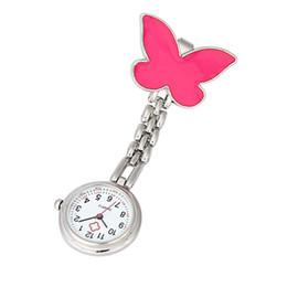 Wholesale Nurse Watch Butterfly - Wholesale-Fabulous 2016 Nurse Clip-on Fob Brooch Pendant Hanging Butterfly Watch Pocket Watch New free shipping wholesale 3.24