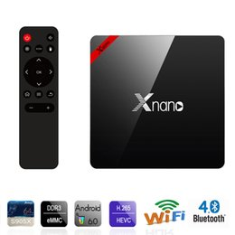 Wholesale Os Media Player - Xnano X96 Pro Smart Android TV Box Amlogic S905X Quad Core 1G+8G 2G+16G Android 6.0 OS Bluetooth 4.0 4K Media Player DLAN Set Top Box