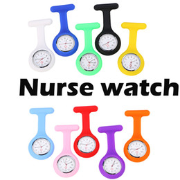 Argentina Envío libre de DHL reloj de bolsillo del médico de la enfermera de silicona relojes médico regalos de Navidad colorido reloj túnica del fob Suministro