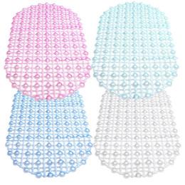 Vente en gros-meilleur prix 37x67cm salle de bains PVC aspiration anti-dérapant tasse bain douche sécurité tapis tapis de sol sécurisé pour la maison Hôtel Pub 4 couleurs ? partir de fabricateur