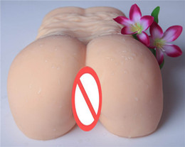 Wholesale Silicone Hip Butt - Male sex toy big butt double hole hip silicone soft simulation model temptation vagina of tall waist Yin hip reverse mould