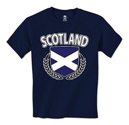 Wholesale Crest Shirt - 100% Cotton Short Sleeve O-Neck Tops Tee Shirts man t shirt Scotland Flag Crest Olive Wreath Scottish Pride Mens T-Shirt