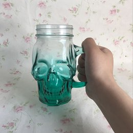 Wholesale Home Wares - 100Ml Skull Drinking Glasses Doouble Layer Crystal Drinkware Vodka Whiskey Shot Creative Style Drinking Ware Home Glasses Cocktail Beer Cup