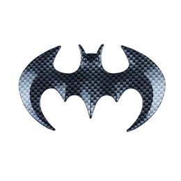 Wholesale Black Window Film - Harley Sticker Bat Carbon Fiber Emblem Decal Logo Car Truck SUV Harley Motorcycle Sport For Man